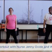 At home workout with Nurse Jenny Ovide and Willie Boone